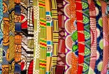 African Textiles / Many people apply for a Deki loan to expand their textile businesses and we can see why they are a success with all the amazing colours, patterns and designs.