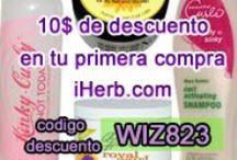iHerb - Deseados y Favoritos / Soy adicta a esta página.  Lista de los productos que deseo y de los que ya dispongo.  Mis reviews de productos http://www.iherb.com/mypage/afrohair