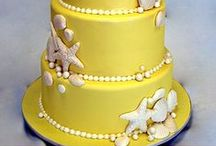 CAKE - WEDDING - CREAM, IVORY, YELLOWS, TAUPES & BEIGES / by ✿♍✿•🍁 ☜- DMHL -☞ 🍁•✿♍✿
