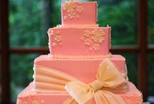 CAKE - WEDDING - PINK, PEACH, APRICOT, CORAL & BLUSHES / CAKE - WEDDING - PINK, PEACH, APRICOT, CORAL, ORANGE & BLUSHES - ALSO PASTELS OF THESE COLOURS. / by ✿♍✿•🍁 ☜- DMHL -☞ 🍁•✿♍✿