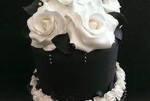 CAKE - WEDDING - BLACK & WHITE / BLACK & GOLD / BLACK & CREAM / BLACK & PINK / BLACK & RED etc. / BLACK & WHITE / BLACK & GOLD / BLACK & CREAM / BLACK & PINK / BLACK & RED etc. / by ✿♍✿•🍁 ☜- DMHL -☞ 🍁•✿♍✿