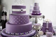 CAKE - WEDDING - AUBERGINE, PURPLE, LILAC & ORCHID / by ✿♍✿•🍁 ☜- DMHL -☞ 🍁•✿♍✿
