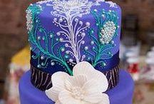 CAKE - WEDDING - BLUE's / AQUA's / by ✿♍✿•🍁 ☜- DMHL -☞ 🍁•✿♍✿