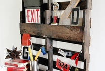 Pallets, crates and tires / should I ever own MY own home, I'll be broke and need to furnish it.. I may need to build the house out of pallets too!   / by Leah Singleton