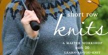 Short Row Knits / This workshop-in-a-book demystifies short row knitting, an easy method for creating perfectly shaped shoulders, bust darts, hems, and other three-dimensional elements. Carol Feller walks you through every step with easy tutorials and 20 beautiful projects.