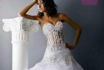 Svatební šaty - širší sukně