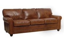 "Luke Leather Furniture at LeatherGroups.com / American designed, Italian leather furniture with each style available in ""in-stock"" leather and additional leather colors available as special order."