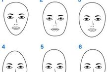 Face Shape / Find out if you have a: -round -oval -square -heart- shaped or -long Face.