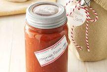homemade dressing and salsa