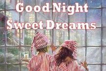 Fijne Avond / Slaap Lekker / Tot Morgen /Good Night -  Vintage style / Fijne avond-slaap lekker-welterusten-tot morgen wensen (nederlands en Engels) in vintage style