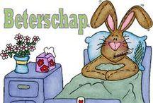 Beterschap / get well soon / Beterschaps-plaatjes (nederlands en engels)