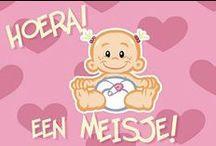 geboorte felicitatie meisje / felicitatiekaartjes voor geboorte meisje/dochter/kleindochter