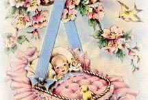 geboorte plaatjes/kaartjes vintage / geboorte plaatjes/kaartjes uit de oude doos/vintage style