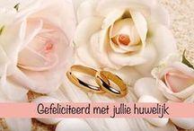 Huwelijk Felicitatie / Felicitatie kaartjes voor een huwelijk,  12,5/25/40/50/60 jarig huwelijk, verloving.
