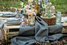 Pique-nique / Picnic / La tête dans les Z'étoiles, Blog Inspirant. Décoration, Diy, Inspiration, Event.   http://leszetoiles.blogspot.fr  Idée #pique-nique #romantique / #Picnic ideas