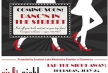 Girls Night Out: Danc'n in the Street / Join Excelsior Girls Night Out for a fun night of dancing on the street!  July 24, 2014 6:30-9 pm.  Festivities include: Dance Performances, Tap Dance Lesson, Flash Mob Dance, Costume Contest and more!