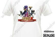 Clash Of Clans / T-Shirt for Clash Of Clans RP. 100.000, atau Bila ada Design sendiri juga bisa.