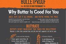 Bulletproof Diet / Bulletproof lifestyle is higher in fats, sugar-free, gluten-free based on the Book Bulletproof Diet