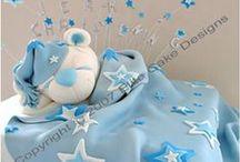 Taart geboorte / cake newborn fondant