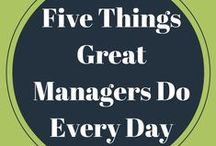 So You're a Manager! / Being a manager is an important job. Luckily there's a lot of advice and helpful tips for you to be great at your job!