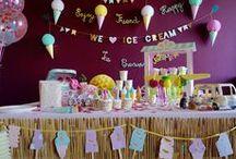 # Event - PARTY Ice Cream Party / Design by La tête dans les z'étoiles - Happy Event : ICE CREAM PARTY. Crédit photo : La tête dans les Z'étoiles. Anniversaire, decor, summer, été, design, décoration, event, birthday, girl, fête