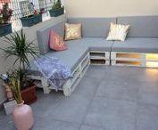 Palets for My home / 2 ayda hazırladık . Palet , minder ve aksesuar sonrası terasımız