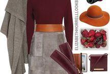 bordeaux - tinten - @Rimpelsteeltjes. / Women fashion