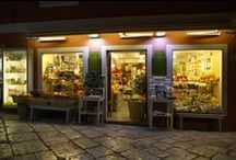 the shops - 25 Filarmonikis street, Corfu, Greece / shopping premium olive oil products