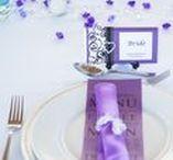 Inspiration: Purple / Purple is such a favourite colour for weddings.