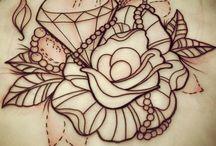 T A T T O O / Inspiration | roses, diamond, pearl ect.