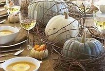 Table et décoration d'automne