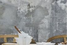 Colorful concrete / Concrete walls