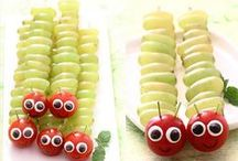 Arty Snacks for Kids / Some great ideas for those days when you want to make the kids smile: works for grown ups too!