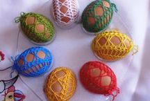 háčkovanie - vajíčka