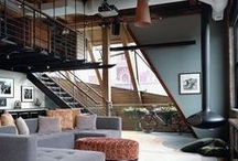 Loft & Studio /  I want a loft! Where I can work and live! / by Jennifer Grey M. Padilha