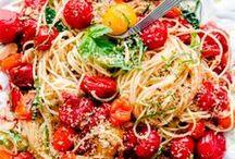Pasta Dishes / All your favorite pasta dishes - spaghetti, ravioli, lasagna, tortellini,fettuccine, linguine, orzo, macaroni (mac & cheese) cannelloni, etc.