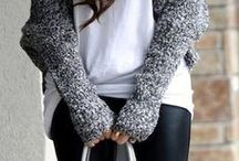 Winter Style / Sweaters Coats Boots ... All things warm and stylish