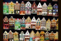 patchwork domy / domčeky
