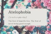phobias / love of things. hate of things.