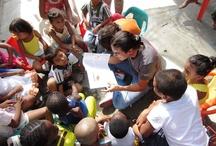 Córdoba, trabajo en los alojamientos / Actividades artísticas en el alojamiento temporal Madre Laura. Fotos: Diego Cruz Lora
