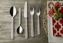 Skandia / Play up your place settings. Skandia is Hampton Forge's trendsetting collection of #flatware, cutlery and beyond. Now you can express yourself with the patterns that best fit your unique personality. Uncover your inner flair for design and discover casual elegance with the Skandia collection.