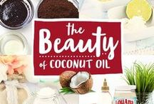 The Beauty of Coconut Oil / Enhance your daily skin and hair care routine with these easy LouAna Organic Coconut Oil beauty recipes.