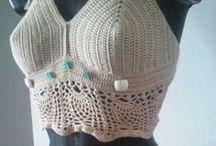 halter top crochet / top crochet
