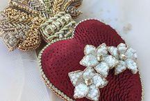 Bead jewelry / Брошь из бисера украшения