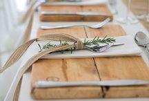 Table settings / Manteles, vajillas, cuberterías