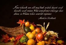 Thanksgiving / The holiday also honors American history, of course. In countless Thanksgiving plays, American children have told the story of the first Thanksgiving when the Pilgrims and the American Indians celebrated the autumn harvest in cooperation and acceptance It is celebrated on the fourth Thursday of November in the United States and on the second Monday of October in Canada. / by Edelmira Brown