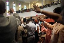 Sunday Fellowship / The Lord's Day in Christianity is generally Sunday, the day of communal worship. It is observed by most Christians as the weekly memorial of the resurrection of Jesus Christ, who is said in the canonical Gospels to have been witnessed alive from the dead early on the first day of the week. The phrase appears in Rev. 1:10. Family and friends tend to fellowship together at brunch or supper after  attending worship  services / by Edelmira Brown