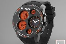 PX-18 Mission / PIXO, PX-18 Mission. A' Design Award 2016 - Silver Award  New multi-functional watch with sensors; function included: Altimeter, Barometer, Thermometer, Weather forecast, World time zone, 5 Alarm set, Stopwatch, Countdown timer...