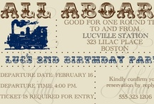 "Vintage Train All Aboard! Party / Chic party ideas to go along with Luc & Lilah Events ""Vintage Train All Aboard!"" Invitation / by Luc & Lilah Events"