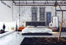 Interior design / Interior design Urban, industrial, contemporary, vintage